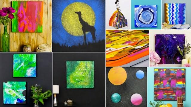 Δημιουργείστε τους δικούς σας Πίνακες ...Αφηρημένης Τέχνης