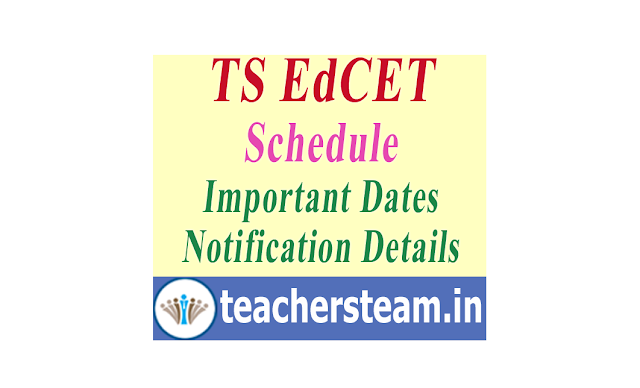 BEd Entrance Exam TS EdCET Notification Details and Dates Schedule of for admission in 2 years BEd Course