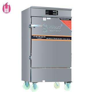 Tủ Nấu Cơm Gas và Điện có Bảng Điều Khiển cảm ứng 10 Khay –TC10K-GĐB