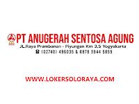 Loker Karanganyar dan Sukoharjo Juni 2021 di PT Anugerah Sentosa Agung