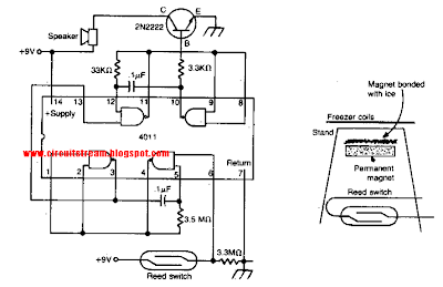 Freezer Meltdown Alarm Circuit Diagram