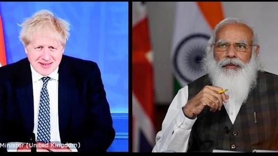 Prime Minister Narendra Modi and his UK counterpart Boris Johnson