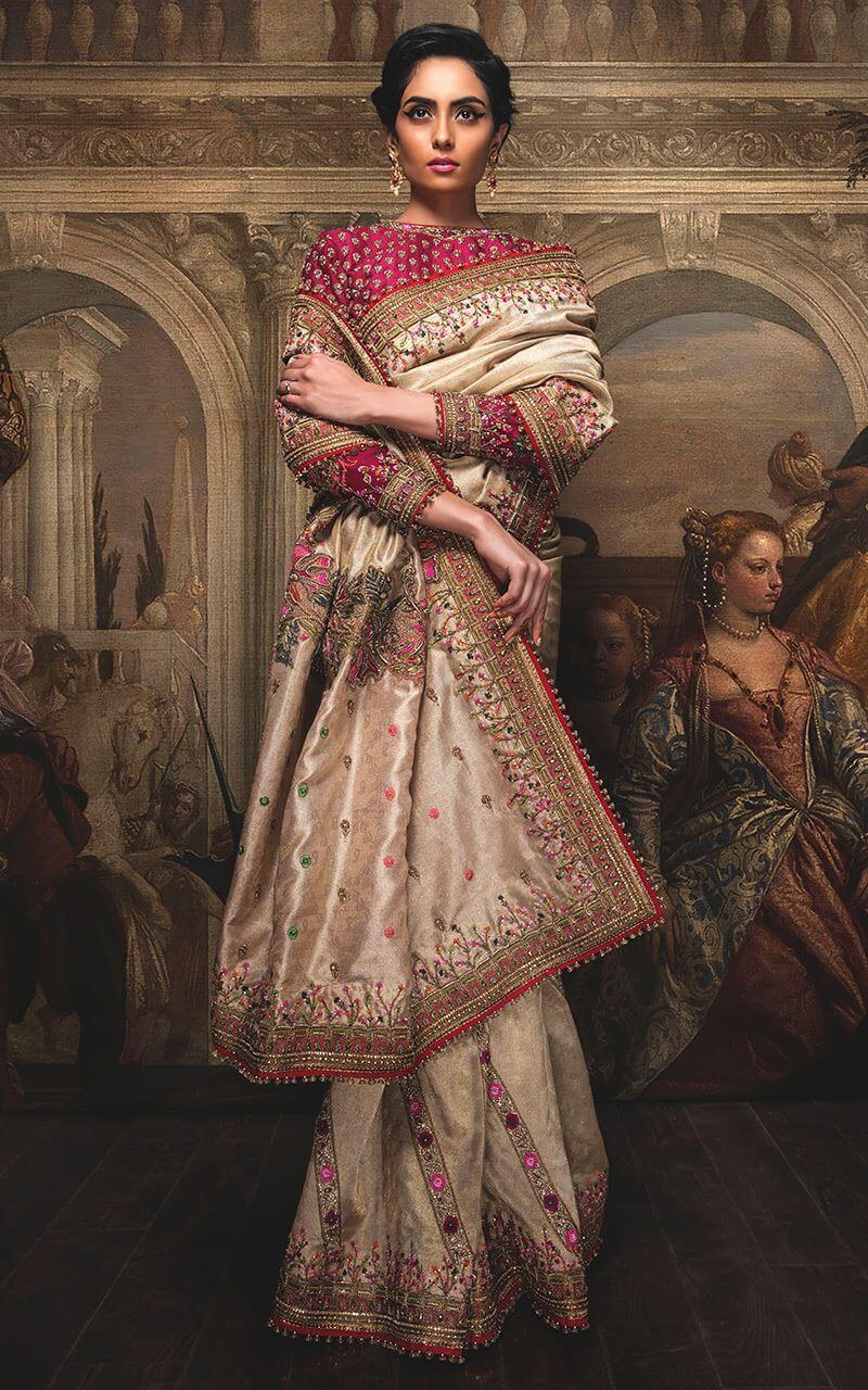 Fahad Hussayn Silk Bridal Saree