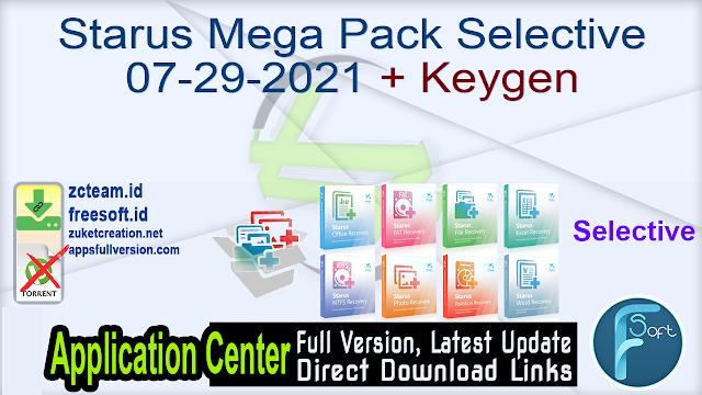Starus Mega Pack Selective 07-29-2021 + Keygen_ ZcTeam.id