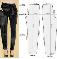 Medidas y patrones de costura de diversas prendas