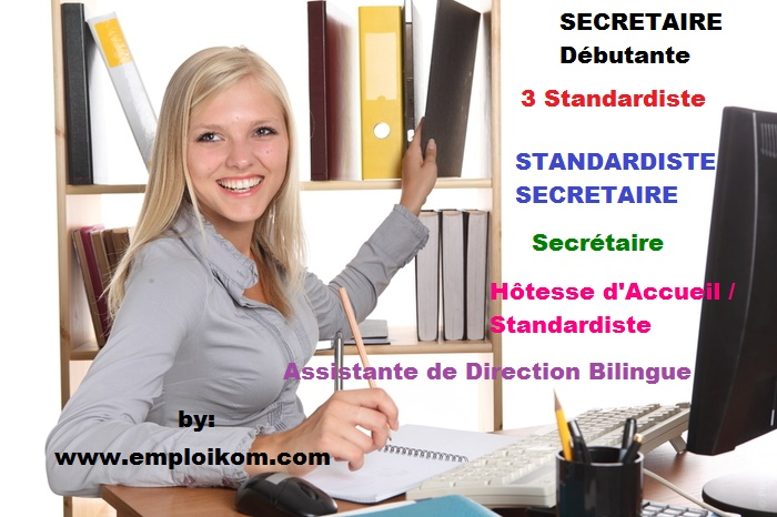 secretaire d u00e9butante  3 standardiste  standardiste secretaire  assistante de direction bilingue