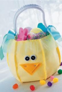 cestino porta uova in feltro per pasqua