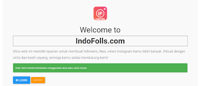 indofolls | Website Penambah followers instagram Gratis dari indofolls.com