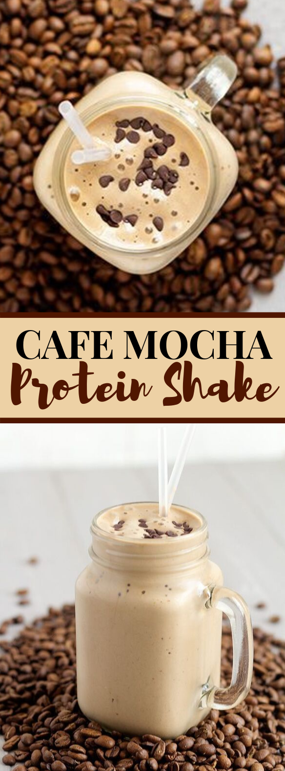 Cafe Mocha Protein Shake #drinks #smoothies