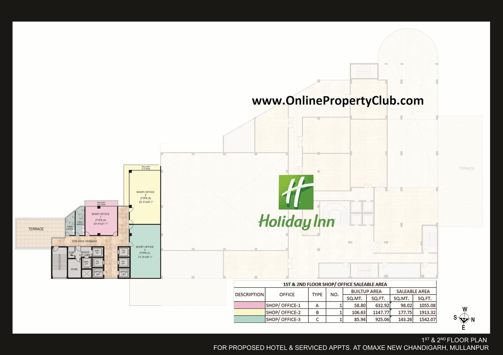 1st & 2nd Floor Holiday inn omaxe office spaces
