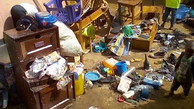 Guinée, Kindia: une maison et son contenu parti en fumer dans le quartier condetta 3 1