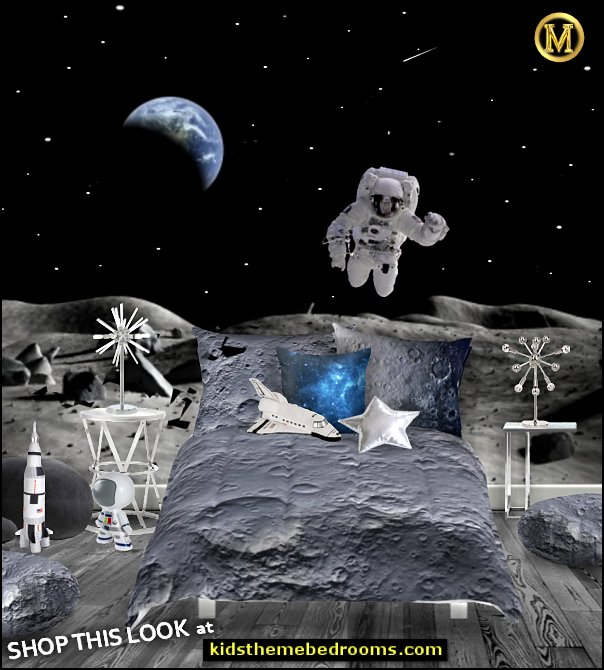 moon bedroom moon bedding moon landing bedroom ideas space bedrooms outer space decor   Outer space decor - space themed kids rooms - planets decor - astronaut wall murals  - outer space bedding - galaxy themed room decor - space themed bedding - planet wall decals - sci fi themed bedroom robots rockets monsters aliens - Star Wars Bedrooms -