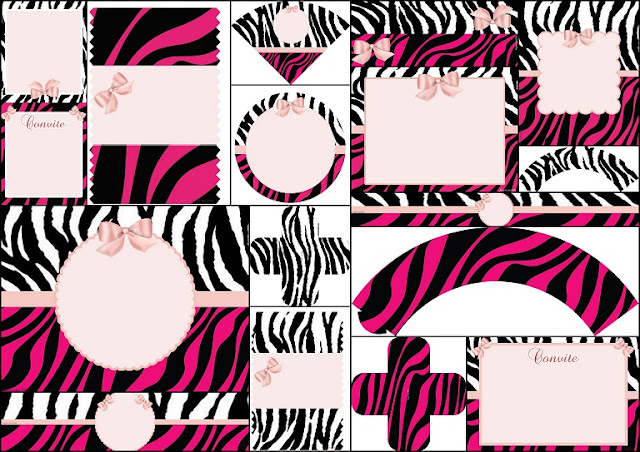 Pink Zebra Free Printable Kit.