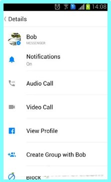bblock on facebook messenger android