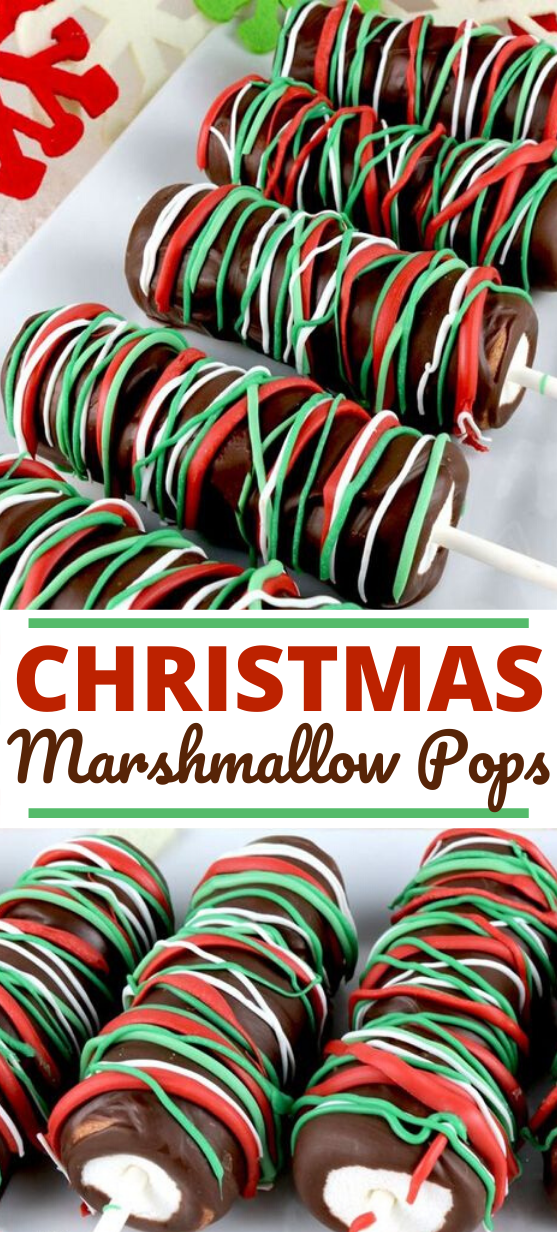 Christmas Marshmallow Pops #desserts #christmas #holiday #recipe #partyfood