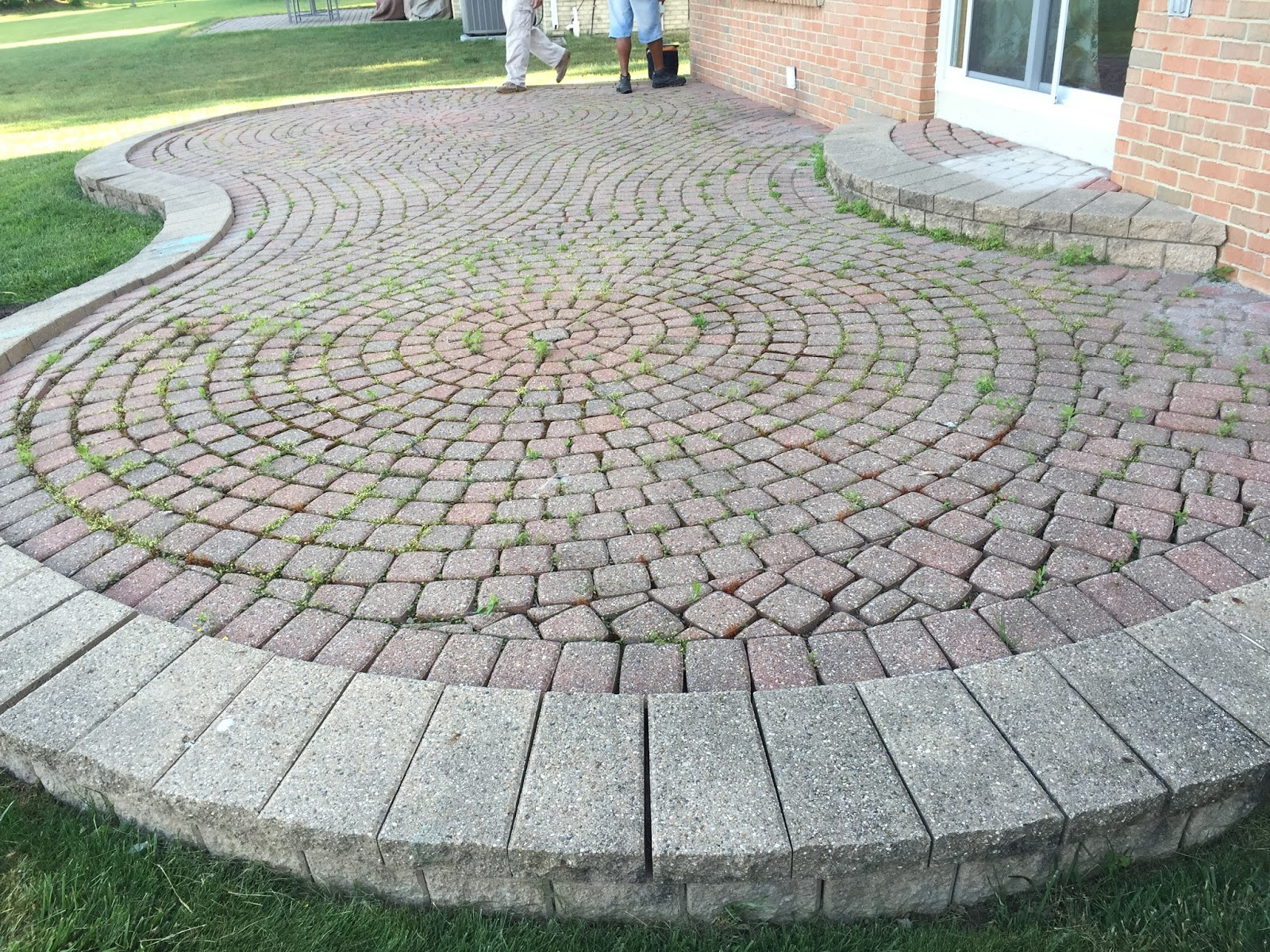 Brick Pavers Repair, Cleaning, And Sealing Brings This Pavers Patio And  Step In Canton, MI Back Alive!