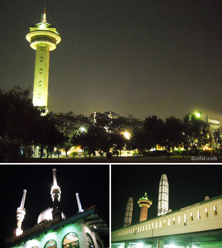 Suasana Masjid Agung Jawa Tengah waktu malam