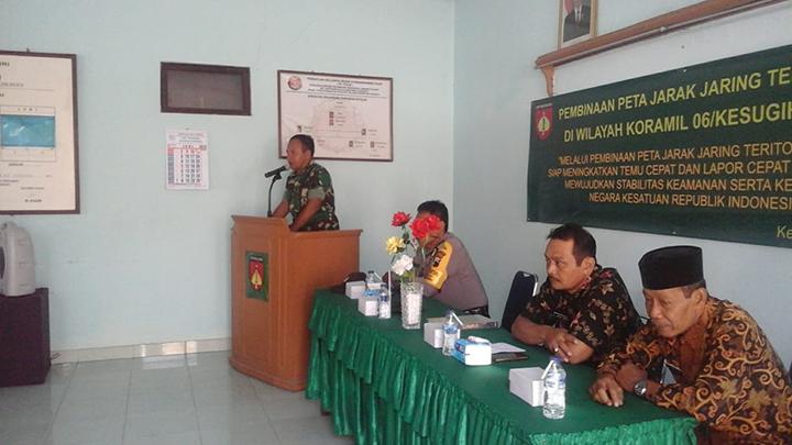 Perkuat Silaturahmi, Koramil 06/Kesugihan Gelar Komsos Dengan Komponen Masyarakat