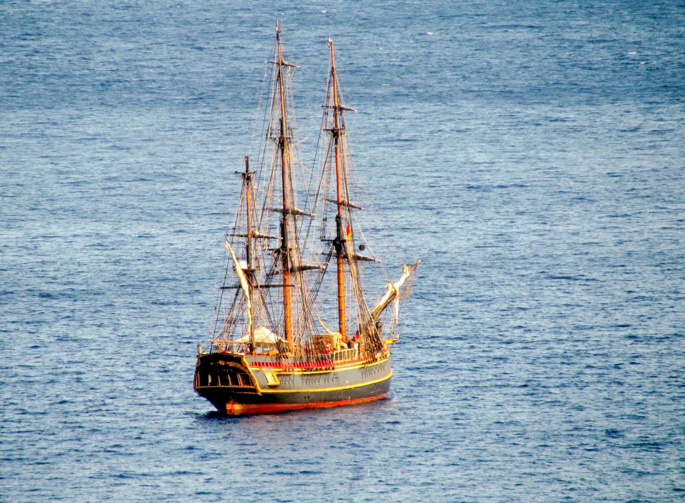 Bounty tall ship in Funchal