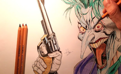 Drawing of the Joker, from Batman: Silence