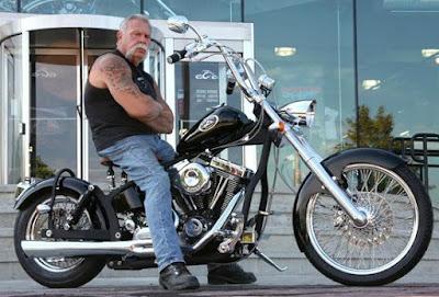 Paul Teutul Sr sitting in his bike
