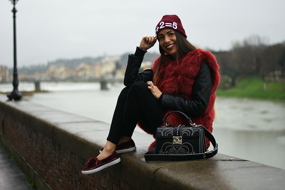 come indossare il burgundy