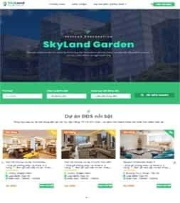 Template blogspot dự án bất động sản Skyland