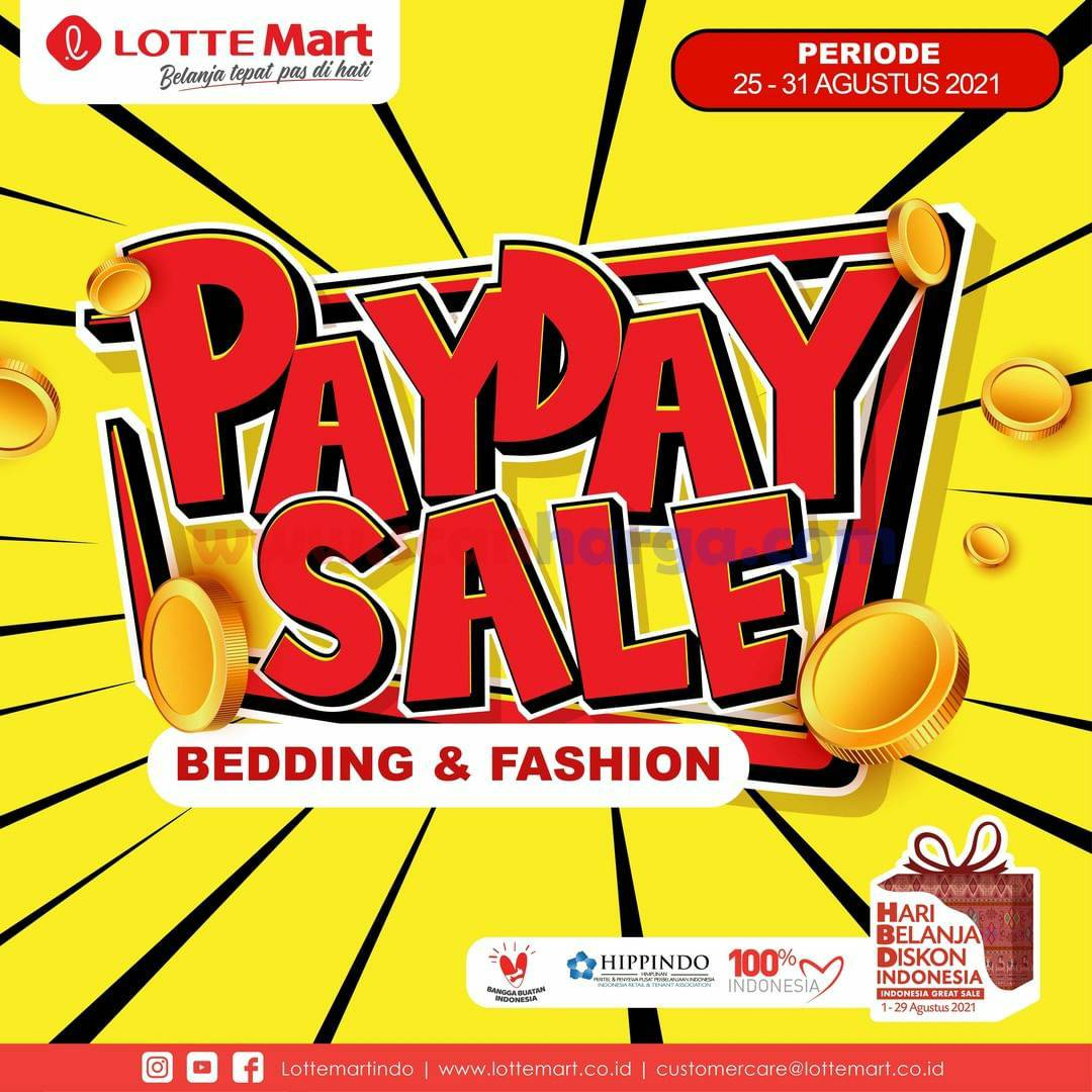 LOTTEMART PAYDAY SALE Promo GAJIAN Periode 25-31 Agustus 2021