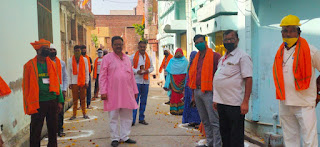 नगर अध्यक्ष भाजपा ने बार्ड no. 25 में पुष्प  रिपोर्ट-संजीव सिपौल्या                                             WWW.UPVIRAL24.IN वर्षा कर स्वच्छता ग्राहियों को प्रोत्साहित किया