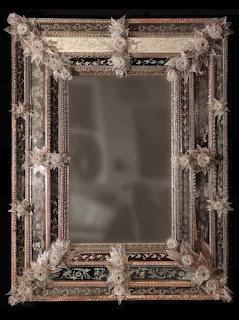 Mirror from Venetian Murano Glass, 19th Century.