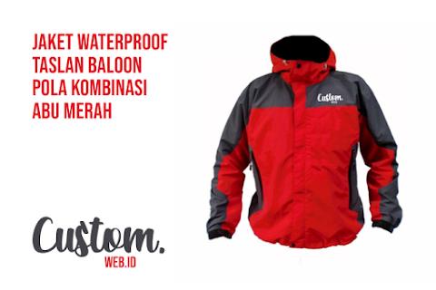 Bikin Jaket Tahan Air Taslan Baloon Waterproof Pola Kombinasi