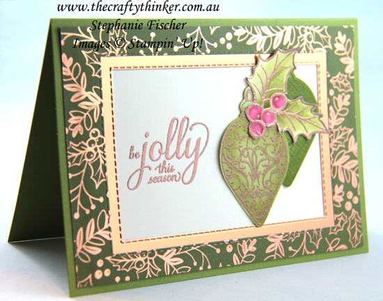 #thecraftythinker #stampinup #christmascard #cardmaking #christmasgleaming , Christmas card, Christmas Gleaming bundle, Stampin' Up Demonstrator, Stephanie Fischer, Sydney NSW