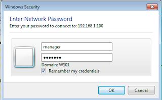Input user dan password