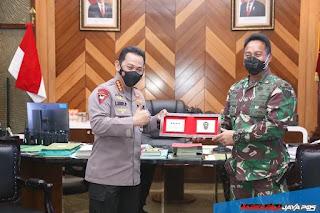 Kapolri Kunjungi KSAD, Sepakat TNI-POLRI Menjaga Kedaulatan Dan Stabilitas Kamtibmas