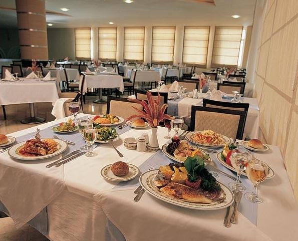 Albanain restorant table in Tirana