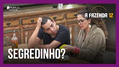 A Fazenda 12 – Luiza  e Lucas fofocam sobre briga e votos – Lidi e Rodrigo analisam filme 'O Rei Leão'
