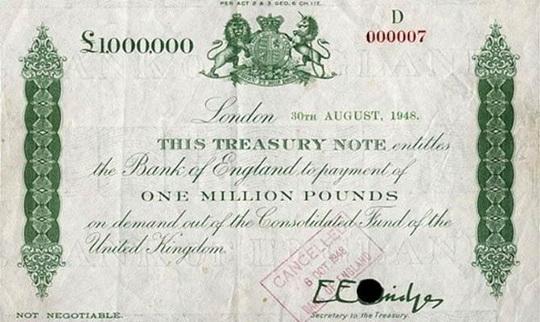 один миллион фунтов стерлингов