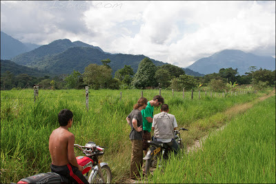 Just an average day motorcycle scouting, Giorgio, Joel, Chris Baer, Colombia, rio, Putumayo