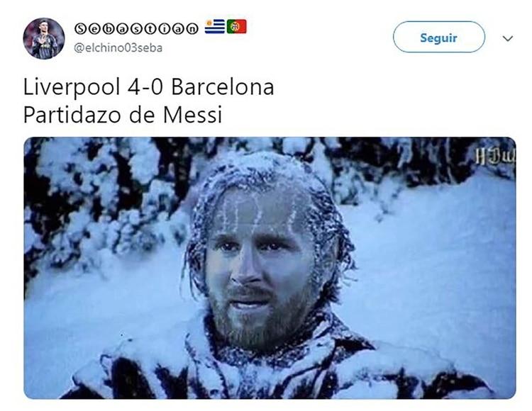 Meme Vignette Divertenti eliminazione Barcellona a Liverpool Foto 3.