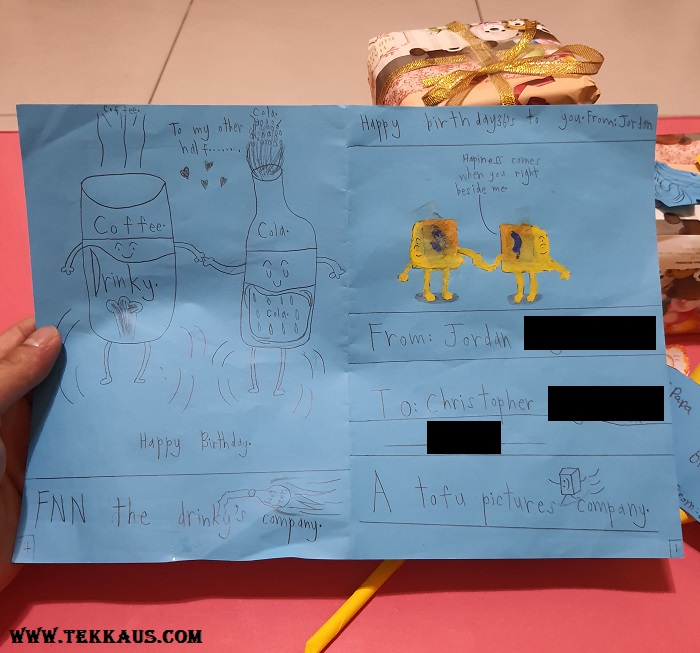 Comic strip for birthday card