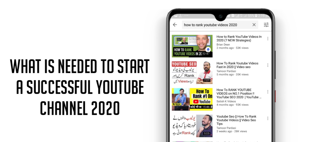 What is required to start a new YouTube channel to get success in 2020
