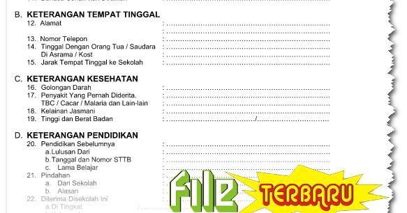 Download Buku Induk Siswa Tk Sd Mi Smp Sma Gratis