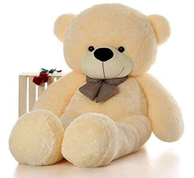 Click4Deal Soft Teddy Bear With Neck Bow A Gift Idea for Valentine
