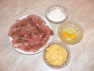 retete cu porc faina oua si fulgi de porumb, preparate din porc faina oua si fulgi de porumb,