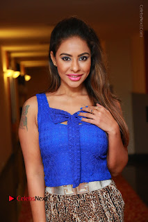 Telugu Actress Srilekha Reddy Latest HD Pos in Sleeveless Blue Top at Muse Art Gallery  0023.JPG
