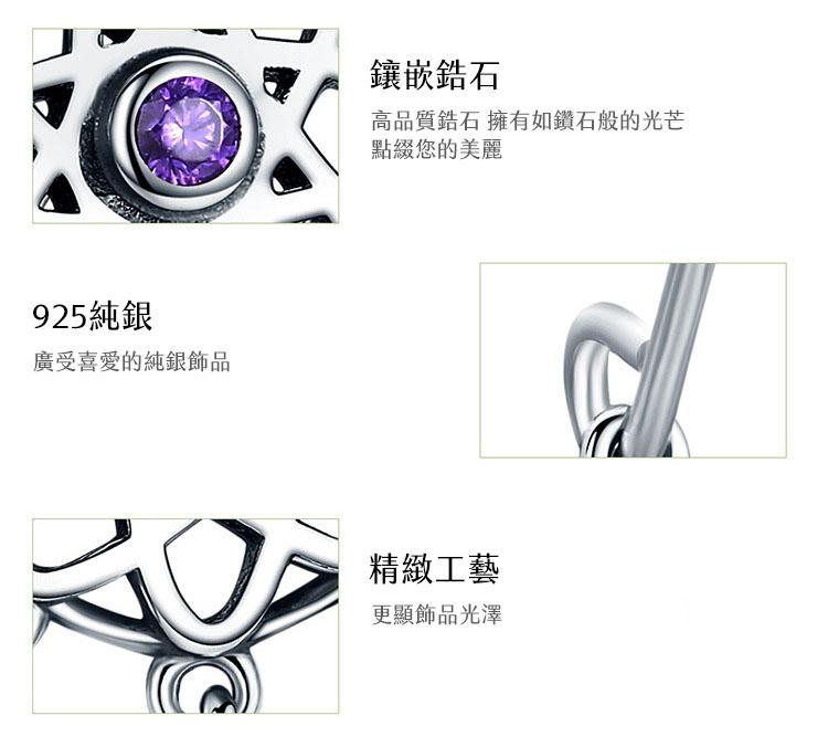 捕夢網 925純銀鋯石耳環