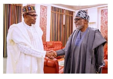 Akeredolu Calls For Legalization Of Marijuana As He Visits Buhari