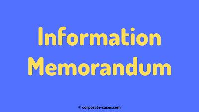 information memorandum in company law