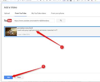 cara menampilkan video youtube ke postingan di blog e