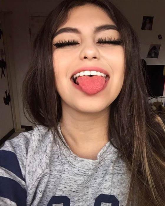 Fotos tumblr sacando la lengua lindas